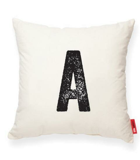 Dolton Letter A Cotton Throw Pillow by Gracie Oaks