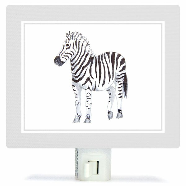 Animal Kingdom - Zebra by Brett Blumenthal Canvas Night Light by Oopsy Daisy