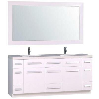 Mosley 72 Double Bathroom Vanity Set with Mirror