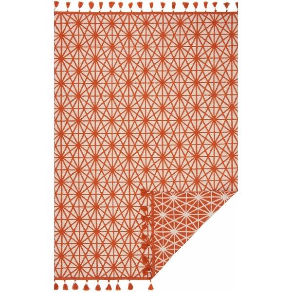 Pangburn Hand-Woven Orange Area Rug by Union Rustic