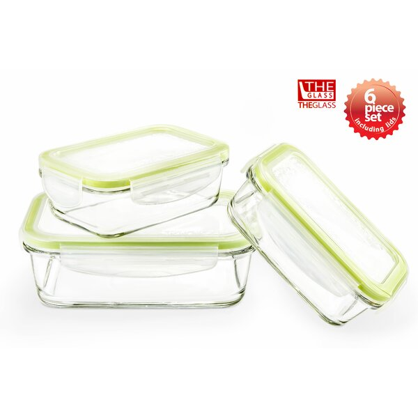 3 Container Food Storage Set by The Glass