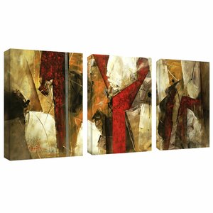 Abstract IX by Lopez 3 Piece Painting Print on Wrapped Canvas Set by Trademark Fine Art