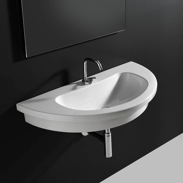 Kart Ceramic 34 Wall Mount Bathroom Sink by WS Bath Collections