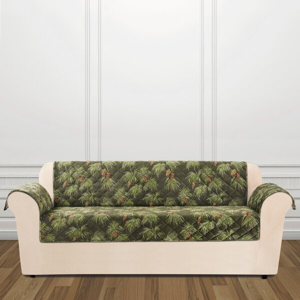 Lodge Pinecone Box Cushion Sofa Slipcover by Sure Fit