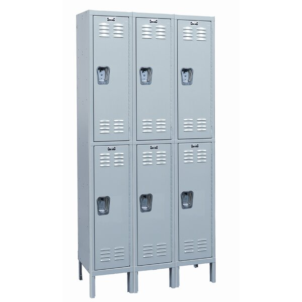MedSafe 2 Tier 3 Wide School Locker by Hallowell