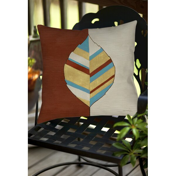 Apache Leaf 1 Indoor/Outdoor Throw Pillow by Manual Woodworkers & Weavers