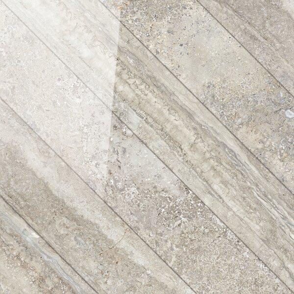 Vstone 19 x 19 Porcelain Field Tile in Nut Cross Semi Polished by Tesoro