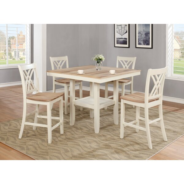 Channelle 5 Piece Pub Table Set by Rosalind Wheeler