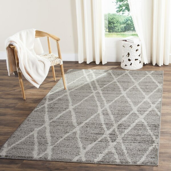 Seaport Gray/Ivory Area Rug by Wrought Studio