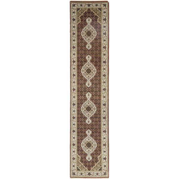 One-of-a-Kind Cortland Hand-Knotted Wool Brown Indoor Area Rug by Astoria Grand