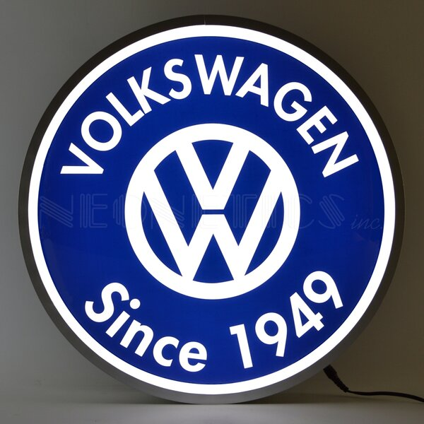 Volkswagen Since 1949 Backlit LED Lighted Sign by