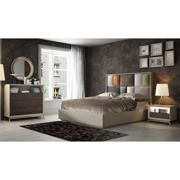 King Platform 5 Piece Bedroom Set by Hispania Home