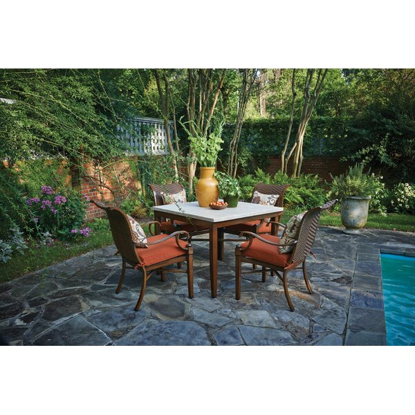 Braymer 6 Piece Sunbrella Dining Set with Cushions Bayou Breeze W003221091