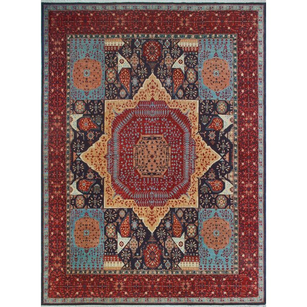 Woodmoor Chobi Hand Knotted Wool Blue Area Rug by Loon Peak
