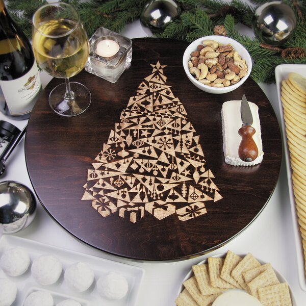 Modern Christmas Tree Lazy Susan by Martins Homewares