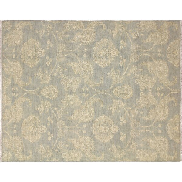 One-of-a-Kind Vintondale Hand-Knotted Wool Gray/Beige Area Rug by Darby Home Co