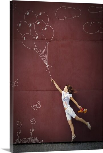 Balloons by Mikhail Ioshko Graphic Art on Canvas by Canvas On Demand
