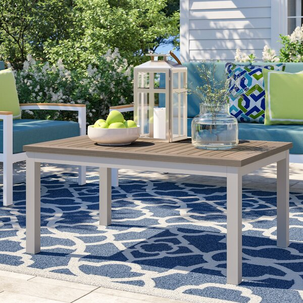 Caspian Solid Wood Coffee Table by Sol 72 Outdoor