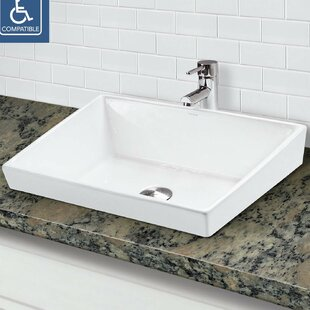 Coupon Brier Classically Redefined Vitreous China Rectangular Vessel Bathroom Sink By DECOLAV