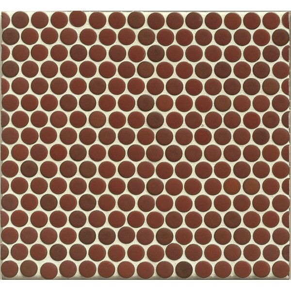 Penny Round Mosaic 12 x 12 Porcelain Tile in Rose by Grayson Martin