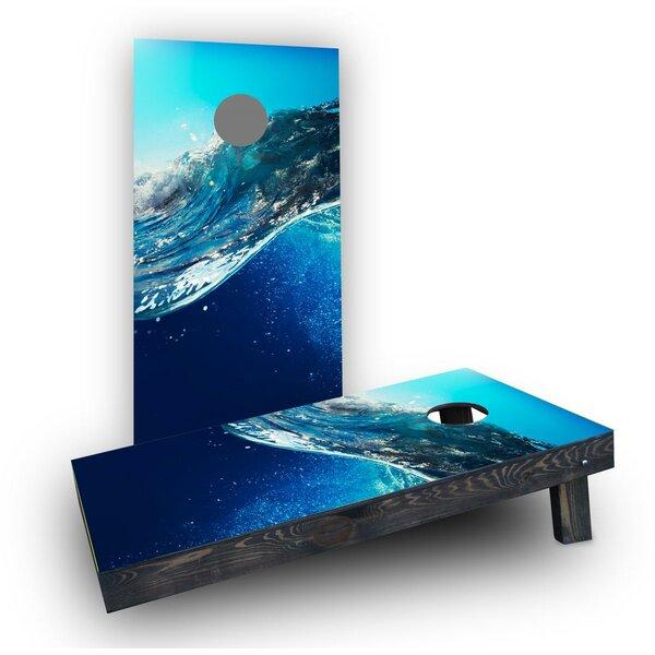 Underwater Ocean Wave Cornhole Boards (Set of 2) by Custom Cornhole Boards