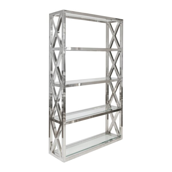Crosshatch Etagere Bookcase by Worlds Away