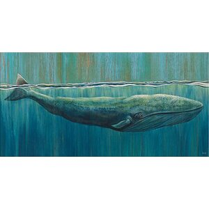 'Sun Bathing Beauty' Graphic Art on Wrapped Canvas by Beachcrest Home