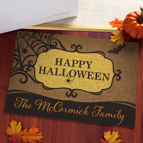 Allman Happy Hallloween Personalized Doormat by The Holiday Aisle