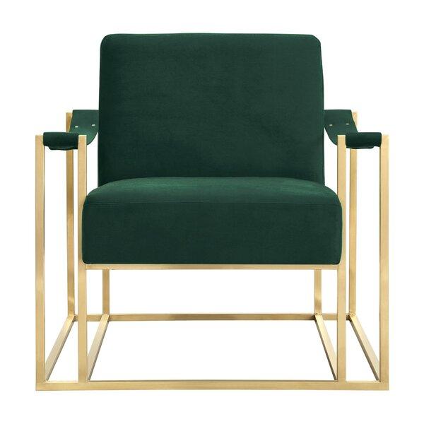 Curtiss Velvet Armchair by Everly Quinn