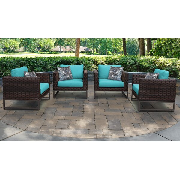 Barcelona Patio 4 Piece Armchair Seating Group with Cushions (Set of 4) by TK Classics