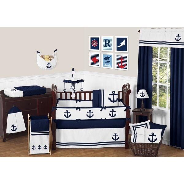 Anchors Away 9 Piece Crib Bedding Set by Sweet Jojo Designs