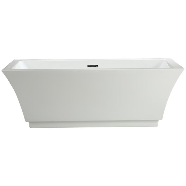 Allegra 66.5 x 31.5 Soaking Bathtub by Vinnova