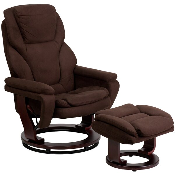 Weinstein Manual  Swivel Recliner With Ottoman By Ebern Designs