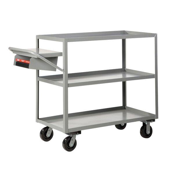 24 x 64 Multi-Shelf Utility Cart with Writing Shelf and Storage Pocket by Little Giant USA