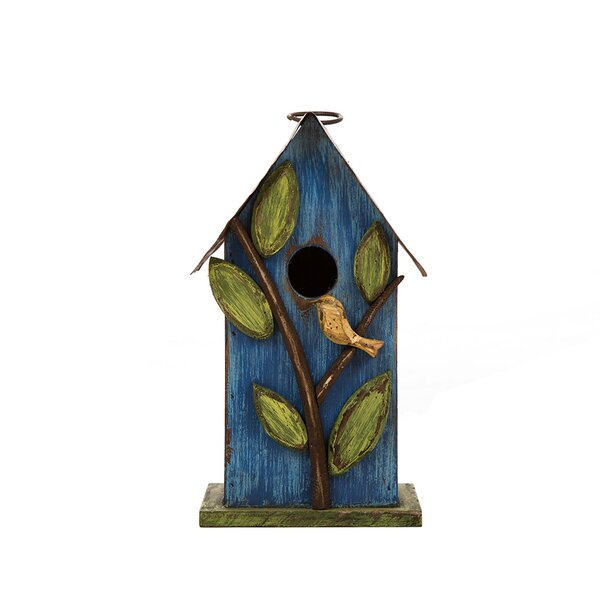 Hanging 10 in x 4 in x 5 in Birdhouse by Glitzhome