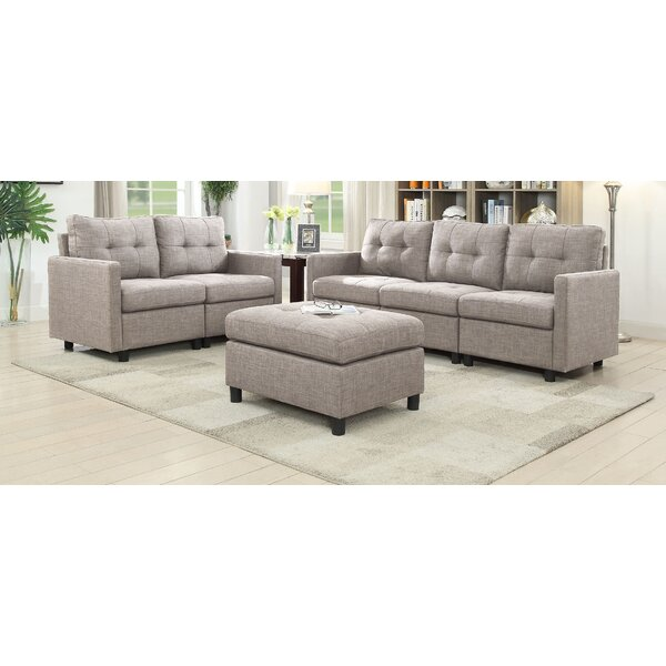 Weybridge 3 Piece Living Room Set by Ebern Designs