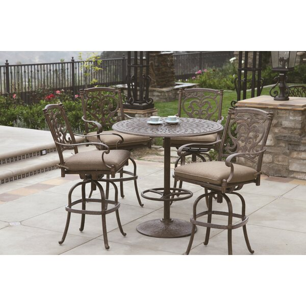 Berenice 5 Piece Bar Table Set with Cushions by Astoria Grand