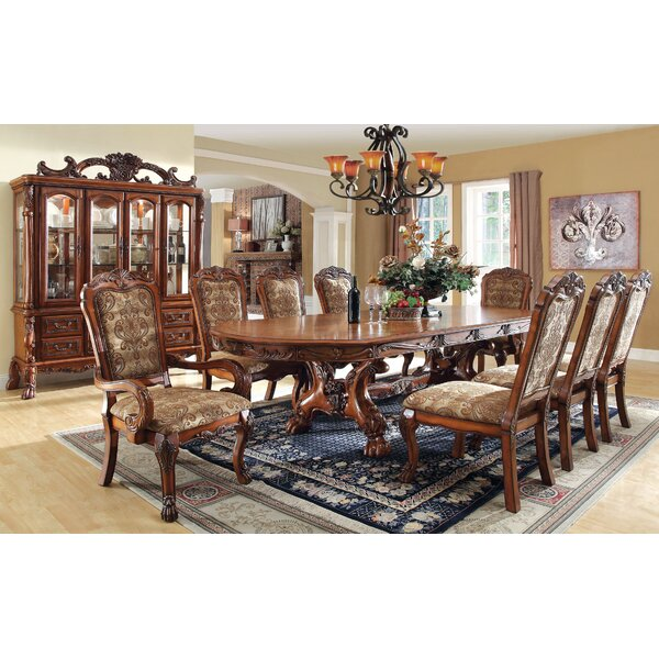 Evangeline 9 Piece Drop Leaf Dining Set by Hokku Designs