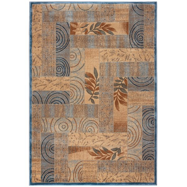 Beige/Blue Area Rug by The Conestoga Trading Co.