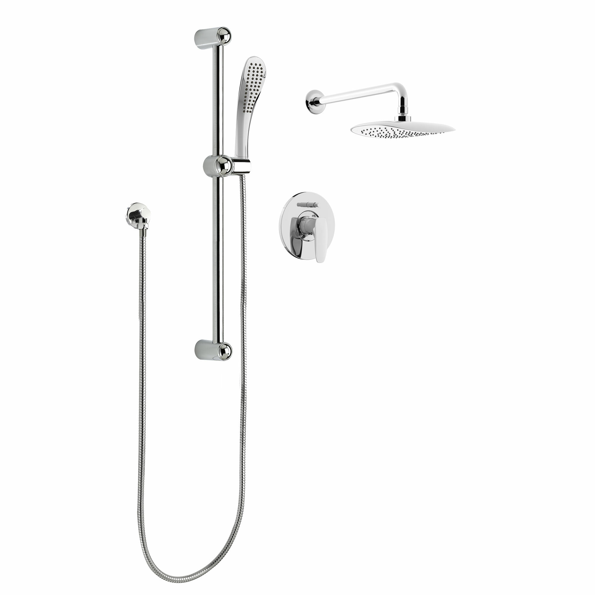Keeney Manufacturing Company Rain Pressure Balanced Dual Function Complete Shower System Wayfair