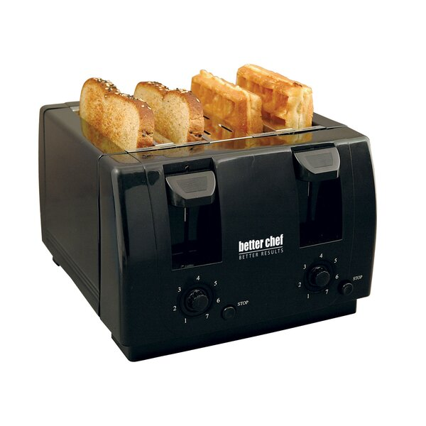 4 Slice Toaster with Dual-Control by Better Chef