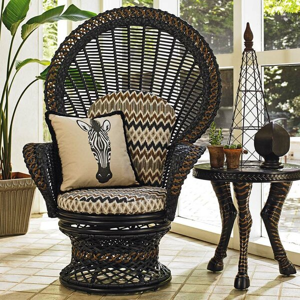 Marimba Swivel Fan Chair with Cushion by Tommy Bah