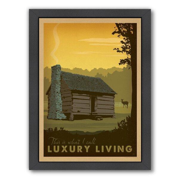 Lake Cabin Framed Vintage Advertisement by Loon Peak