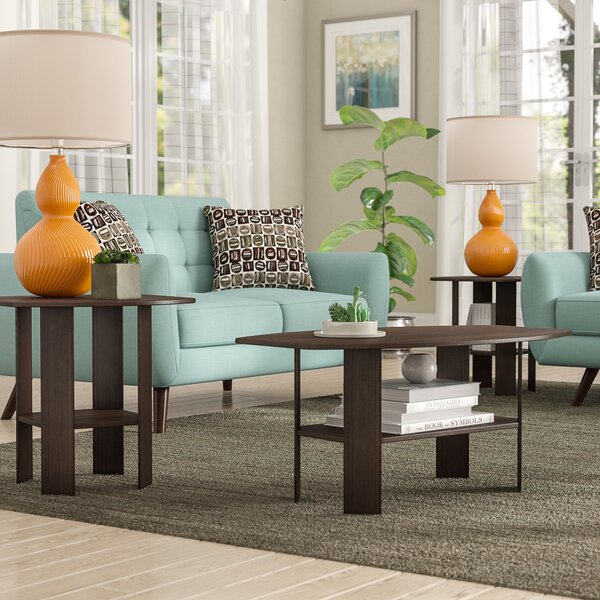 Ballou 3 Piece Coffee Table Set By Ebern Designs