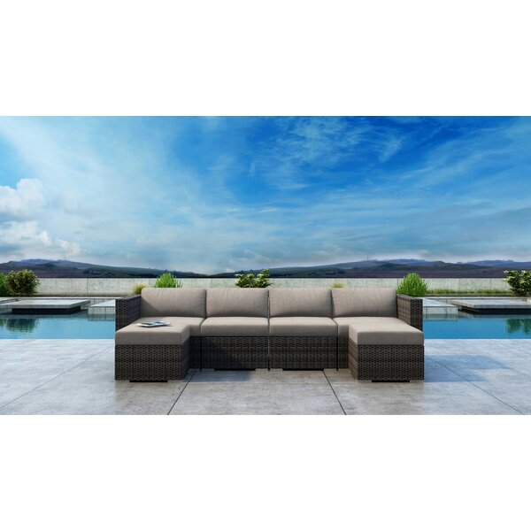 Gilleland 6 Piece Sunbrella Sectional Seating Group with Cushions by Orren Ellis
