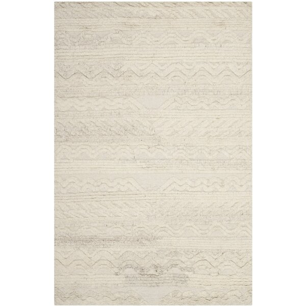 Maffei Hand-Knotted Cotton/Wool Ivory Area Rug by Mistana