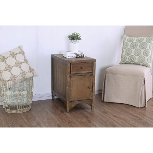 Caius End Table with Storage by Millwood Pines Millwood Pines