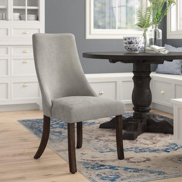 Home & Garden Barrington Velvet Upholstered Side Chair In Gray (Set Of 2)