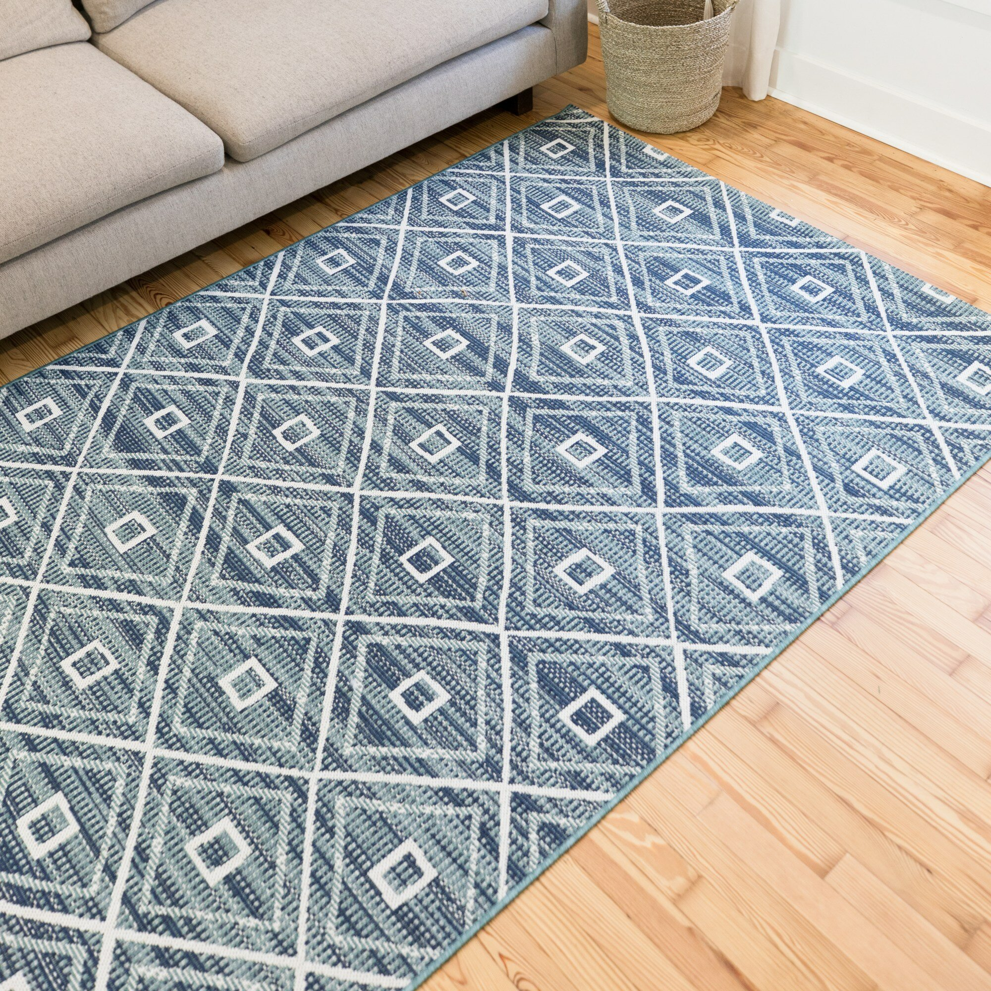 Andes Geometric Teal Indoor Outdoor