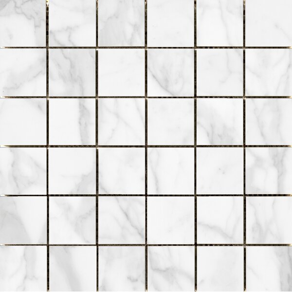 Quest Polished 2 x 2 Porcelain Mosaic Tile in White by Emser Tile